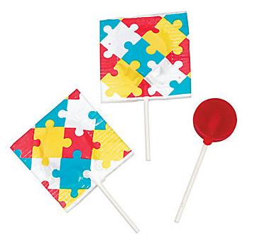 Puzzle Piece Lollipop (55 Pieces)