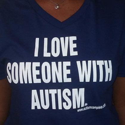I Love Someone With Autism Unisex Tee
