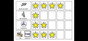 autism, token economy, stars, reinforcement, classroom, aba