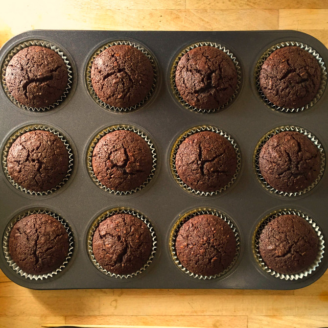 Chocolate Hazelnut Muffins - Vegan/Gluten/Refined Sugar Free