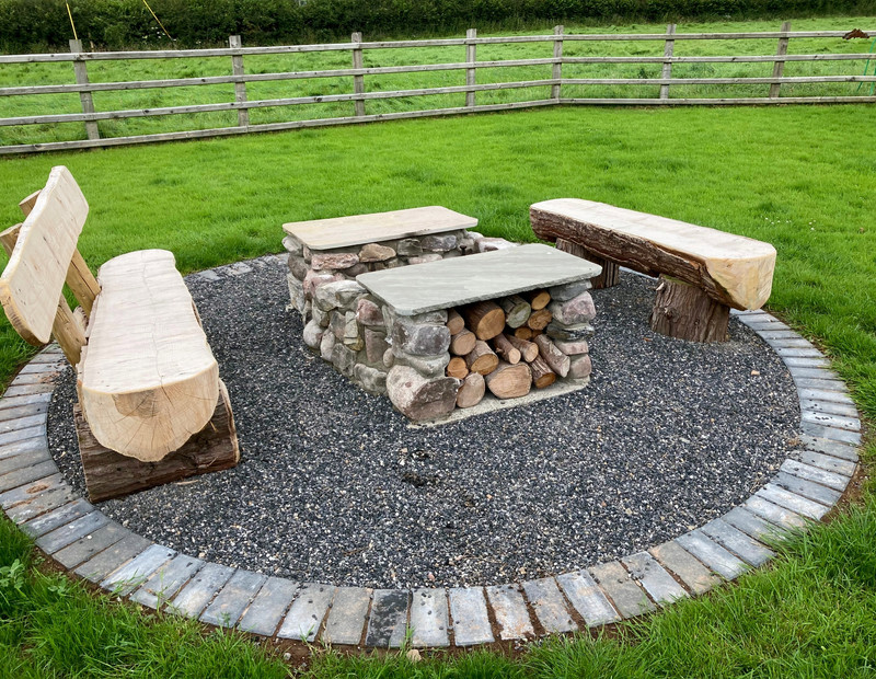 Fire Pit and Log Seating.jpg