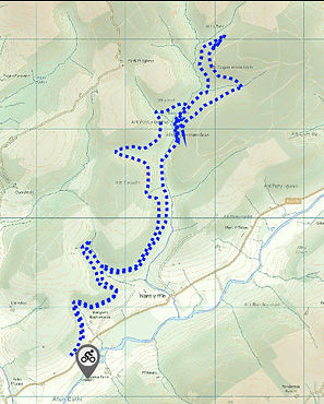 Map of Brechfa Forest