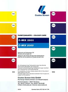carta colores CMIX-2000