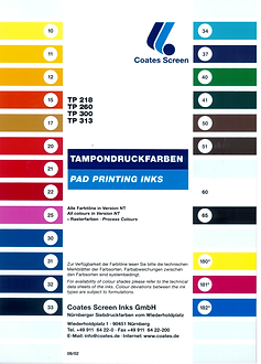 carta colores estandar
