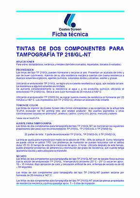 Ficha Tecnica TP 218/GL-NT