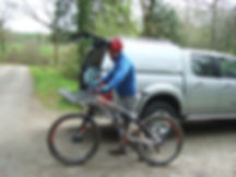 Preparing to ride at CwmRhaeadr