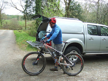 Preparing to ride at CwmRhaeadr
