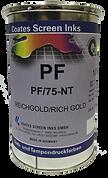 Las tintas para serigrafía PF son tintas especiales para la impresión sobre materiales difíciles como poliéster