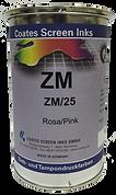 Las tintas de dos componentes ZM para serigrafía son adecuadas para imprimir metales (aluminio, acero, cobre), superficies barnizadas y diversos termoplásticos