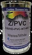 Serigrafía de dos componentes Z/PVC son adecuadas para la impresión sobre PVC, vidrio acrílico, polietileno y polipropileno tratados y otros termoplásticos.