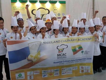 ทีมเยาวชนไทยคว้าแชมป์ การแข่งขันอาหารที่ประเทศพม่า