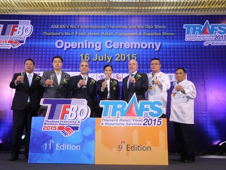 เปิดงาน TFBO 2015 ปีที่ 11 และงาน TRAFS 2015 ปีที่ 9