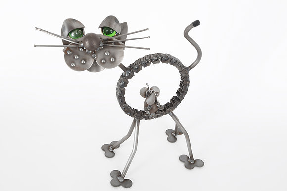 Item #ENK003 ENI Cat with Mouse in Belly