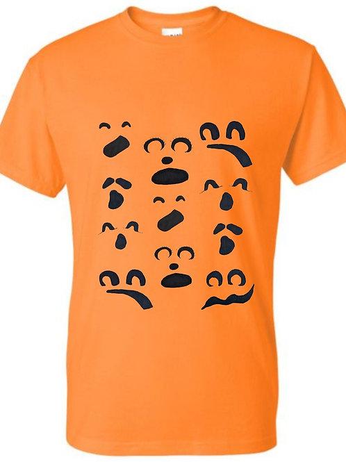 Halloween short sleeve Ghost face
