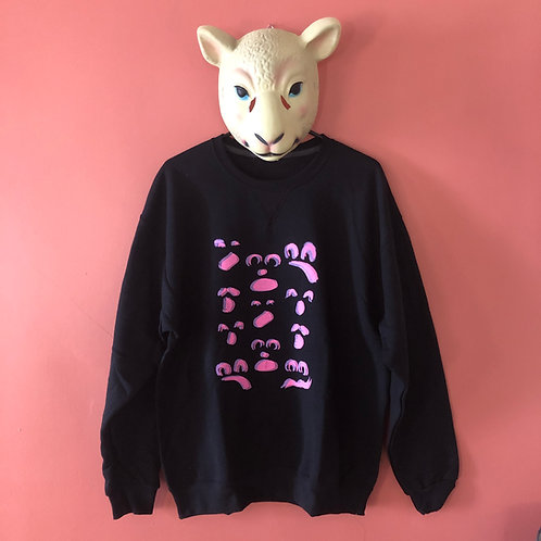 Ghost Face Pink and Purple Crew Neck