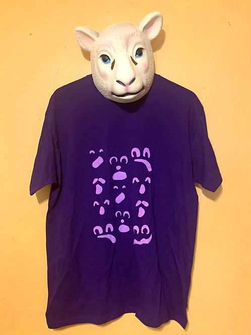 Purple on Purple ghost face T-shirt