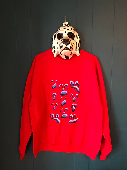 3D Ghost Face Crew Neck