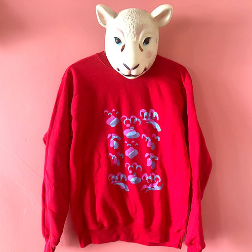 Spring color ghost crew neck