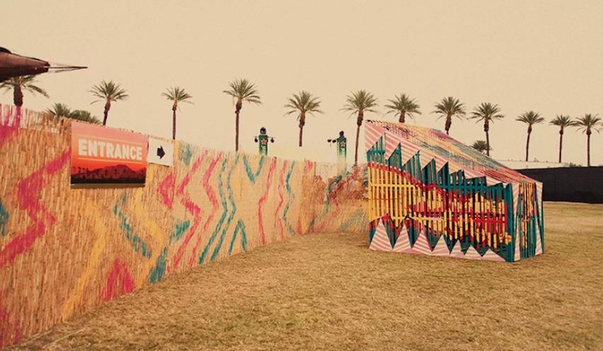Snake fence Coachella