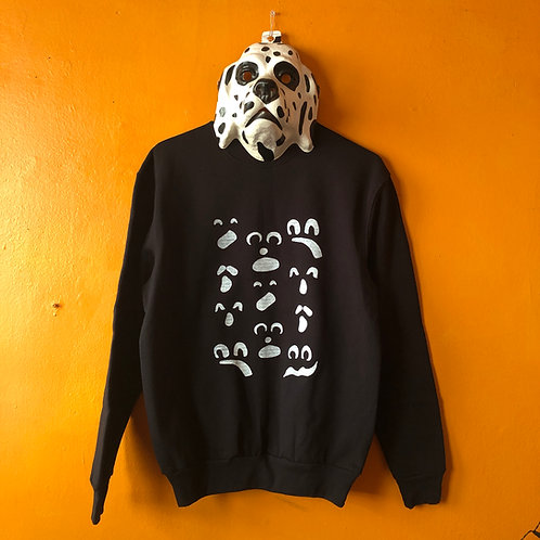 Ghost Face Black Crew Neck