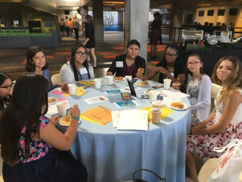 ACA Middle School students eating at STEM empowerment breakfast