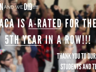 ACA is A-Rated for the 5th Year in a Row!