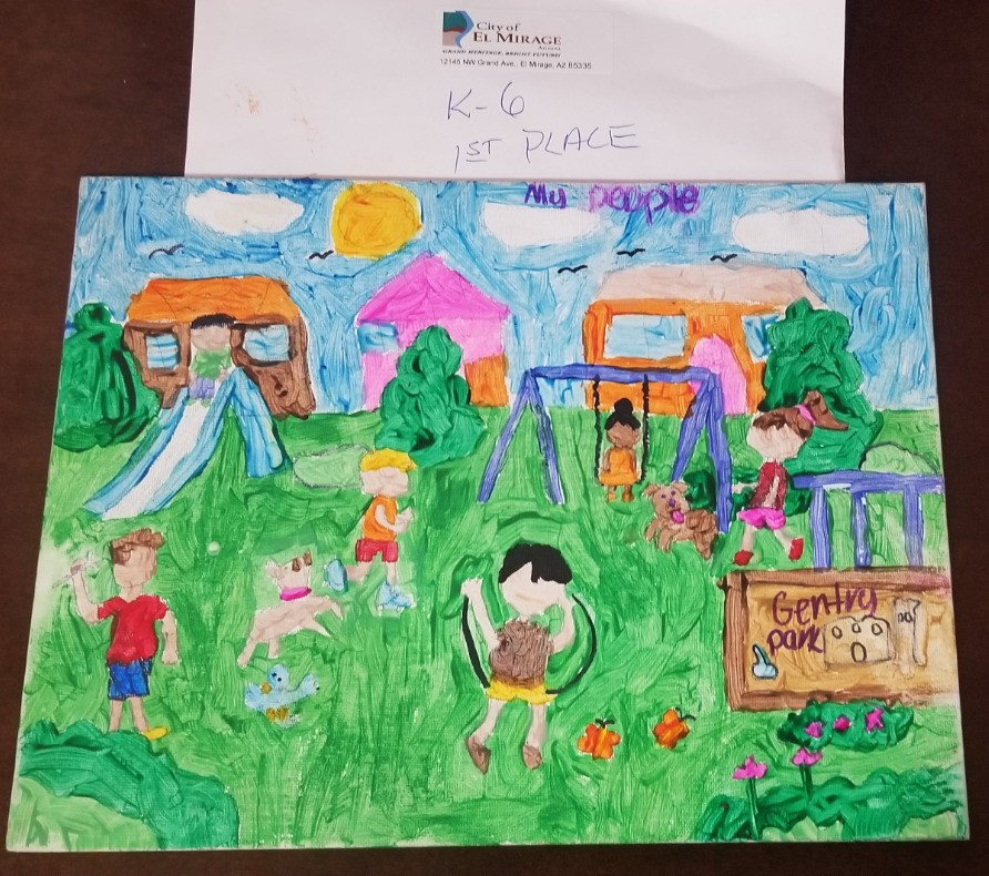 1st place winning art piece of Gentry Park