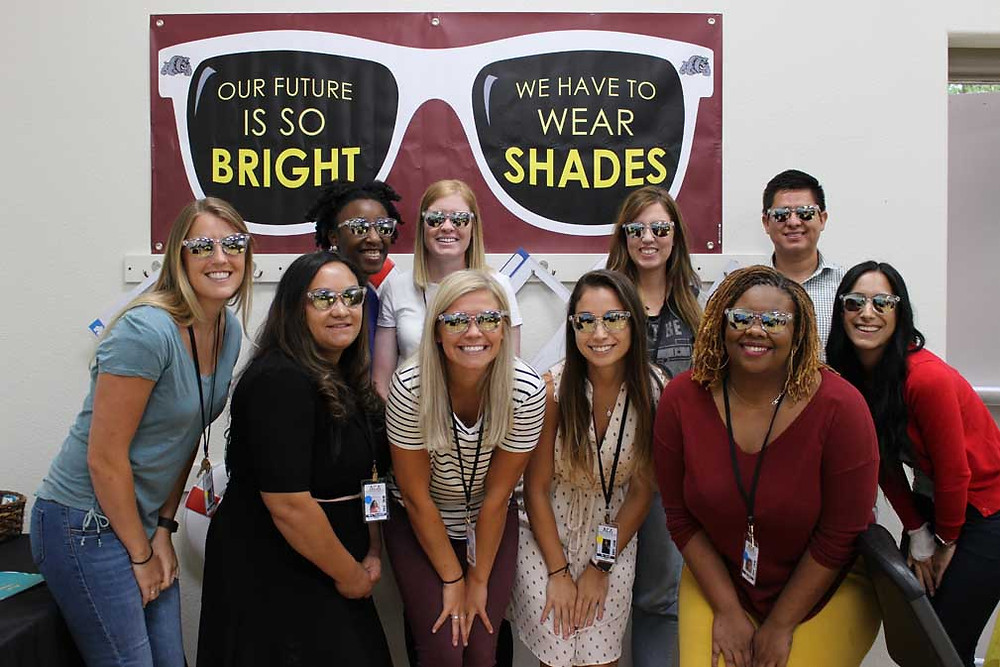new aca teachers posing with sunglasses