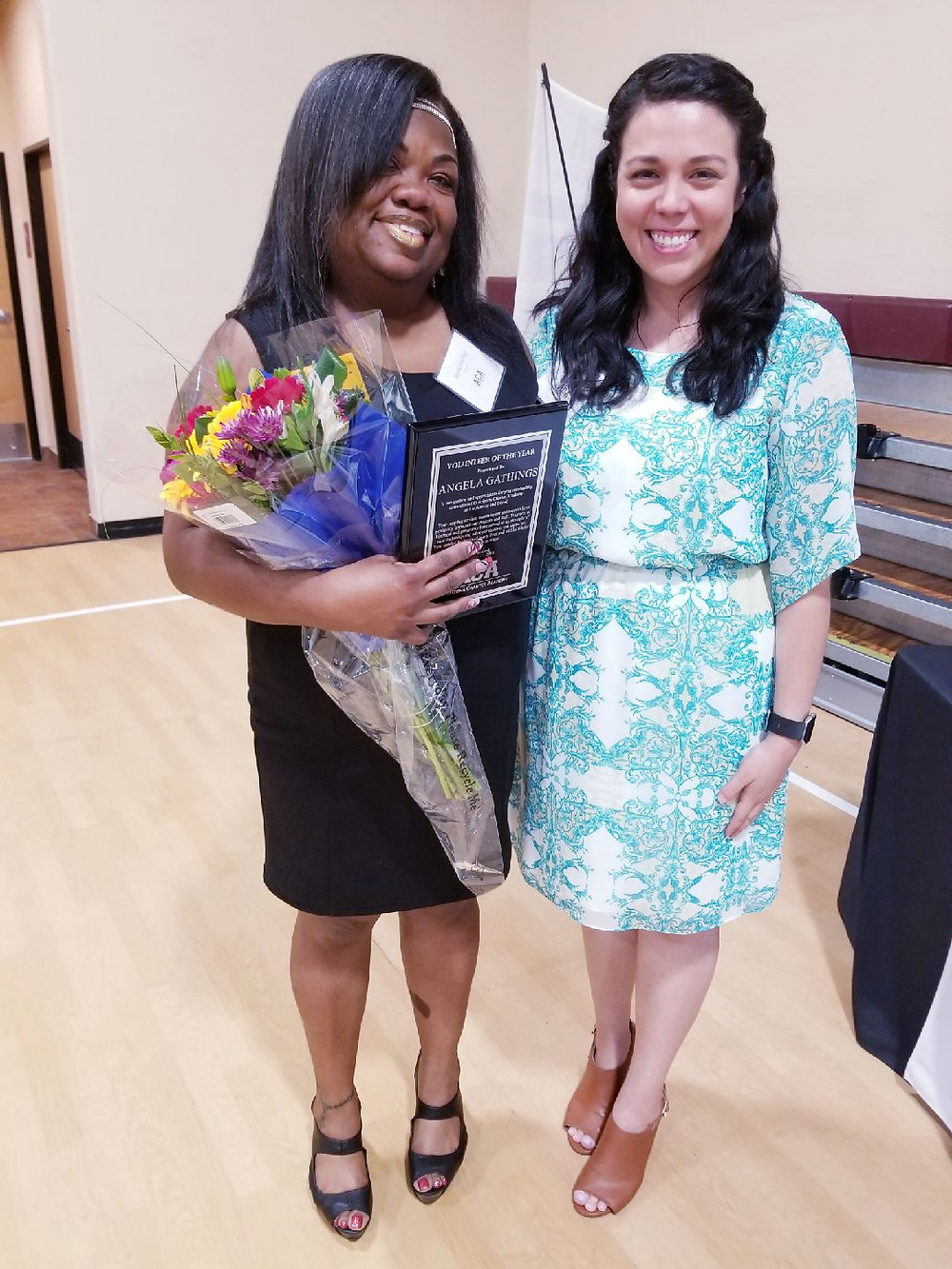 Volunteer of the Year with Mrs. Montenegro