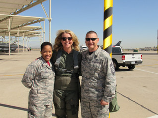ACA's CEO, Mrs. Holdaway Shows Support for Luke Air Force Base