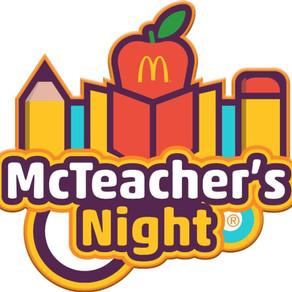 McTeachers Night- Come Support ACA!