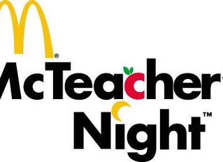 Join us for McTeacher's Night at McDonald's