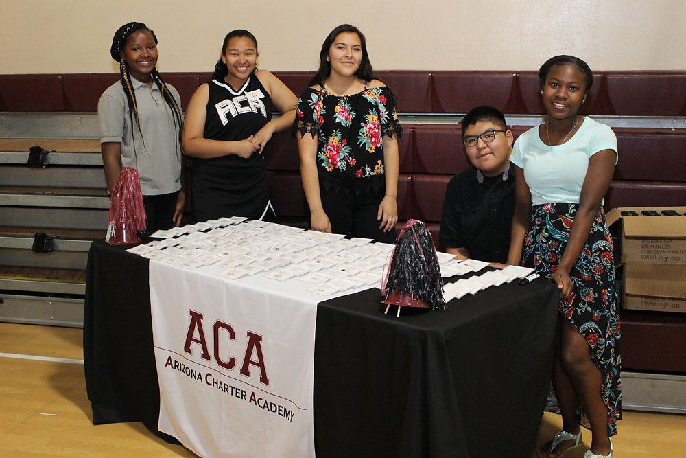ACA students helping out at the luncheon