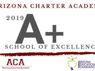 ACA is a 2019 A+ School of Excellence!