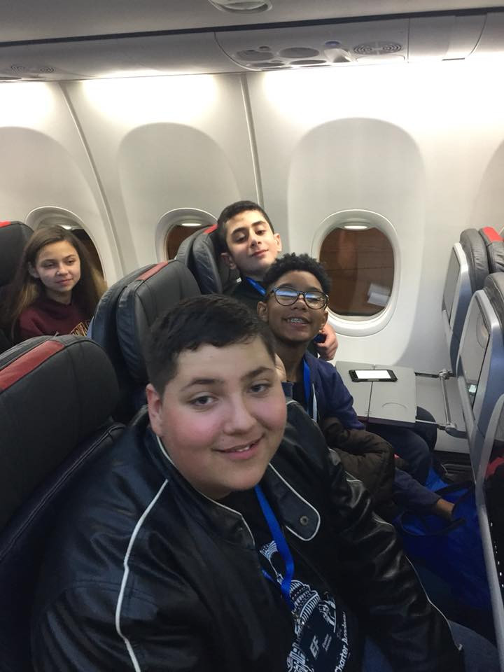 Students on the plan headed to DC!