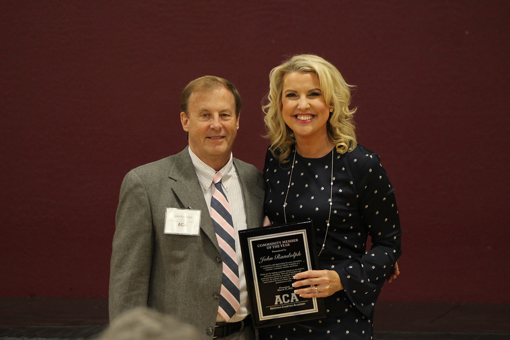 Community Member of the Year, John Randolph with ACA CEO Melissa Holdaway