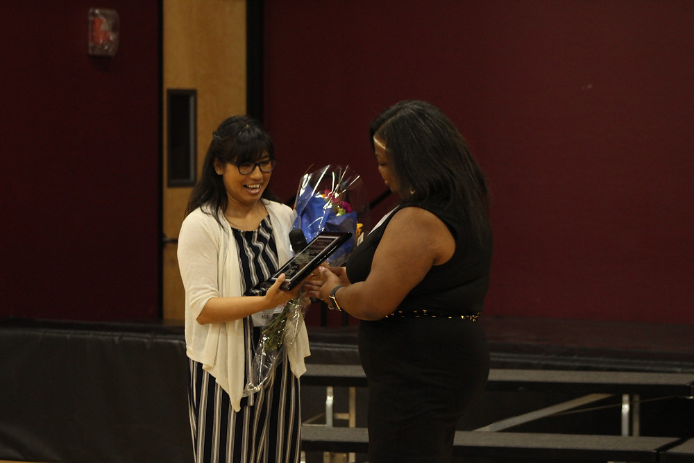 Volunteer of the Year, Mrs. Angela with Mrs. Ramos