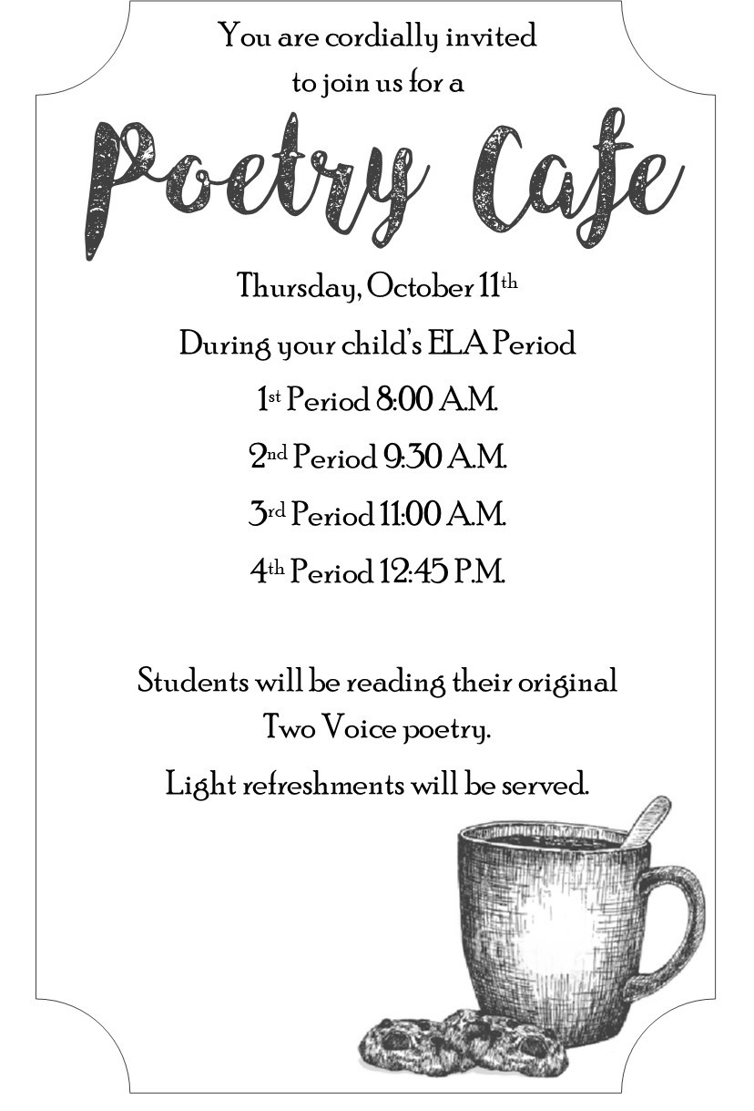 Poetry Cafe poster
