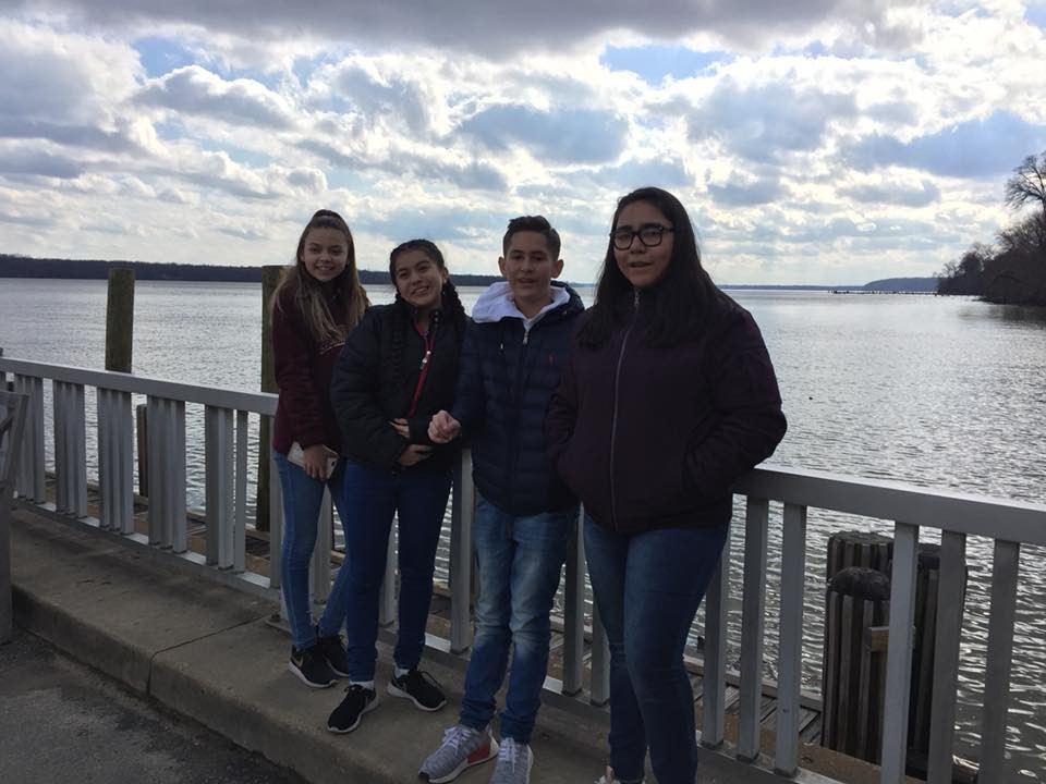 Students on the Potomac River