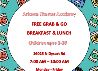 Grab and Go Food Monday-Friday for All Children Ages 1-18