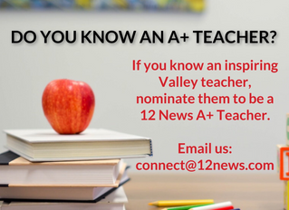 Nominate an ACA Teacher for 12 News Teacher of the Week!