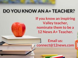 Nominate an ACA Teacher for 12 News Teacher of the Week!