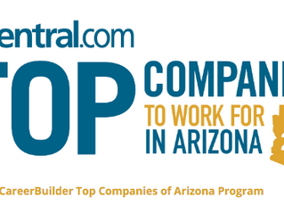 We are in Top Companies to Work for in Arizona in 2016, Again!
