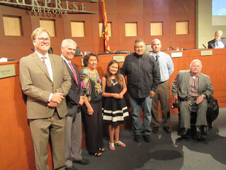 ACA Student Recognized at the Surprise AZ Council Meeting
