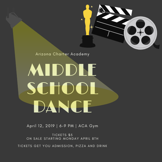 Middle School Dance poster