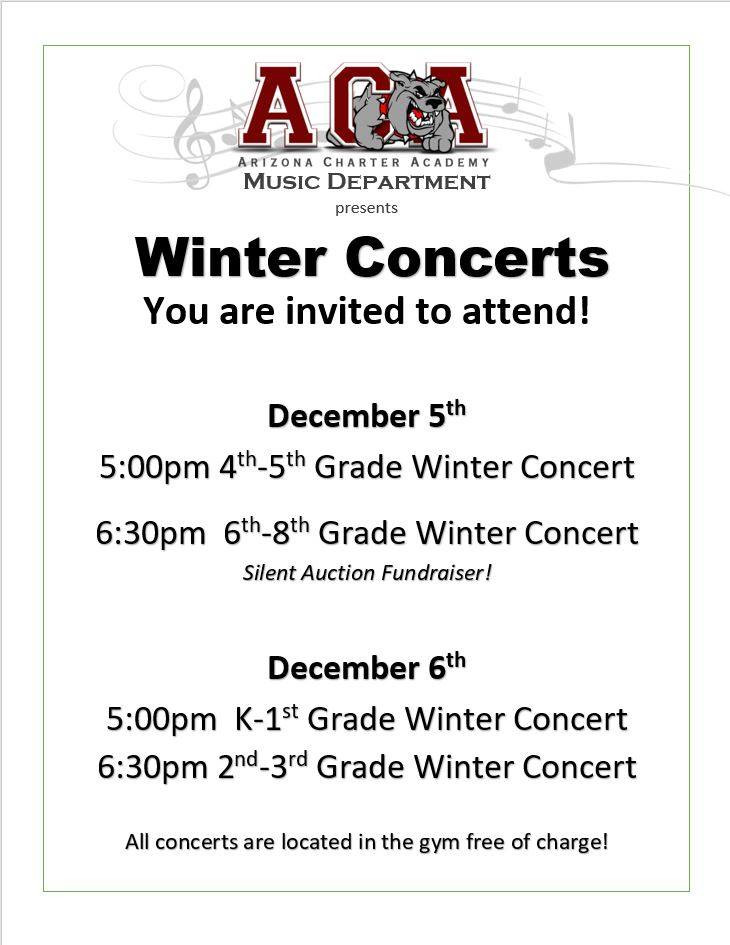 winter concert dates and times