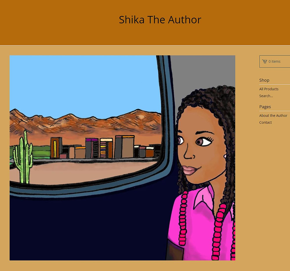 screenshot of shikatheauthor.com