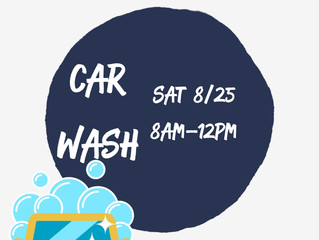 Come Get Your Car Washed! Saturday Aug. 25th!