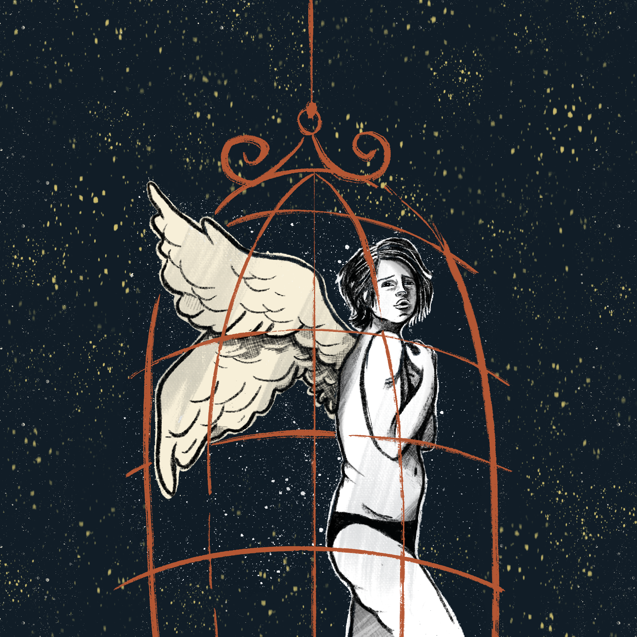 Caged angel - Katia Barria
