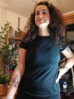 Motherhood tattoo by Katia Barria